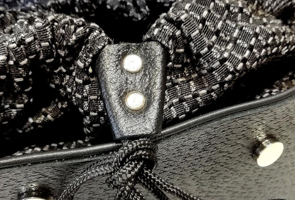 PattyBag  borsa grande in pelle nera stampata