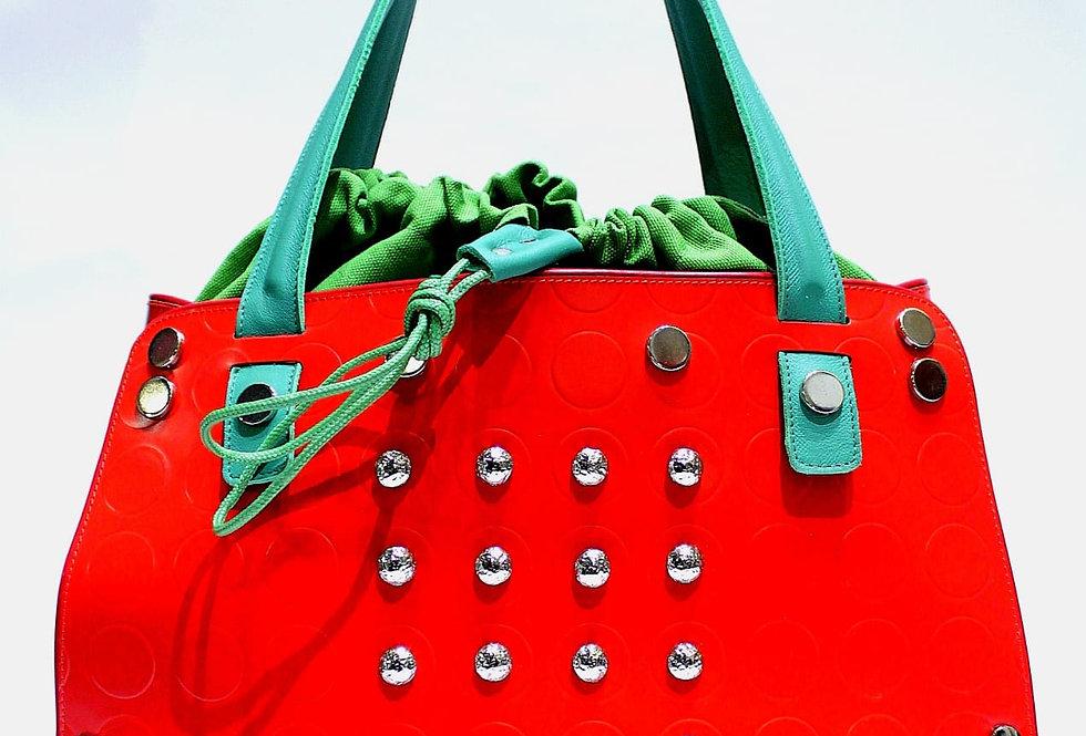 PattyBag piccola Rossa con borchie