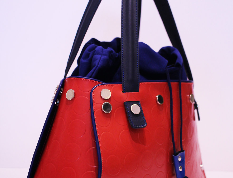 PattyBag piccola Rossa bordo blu