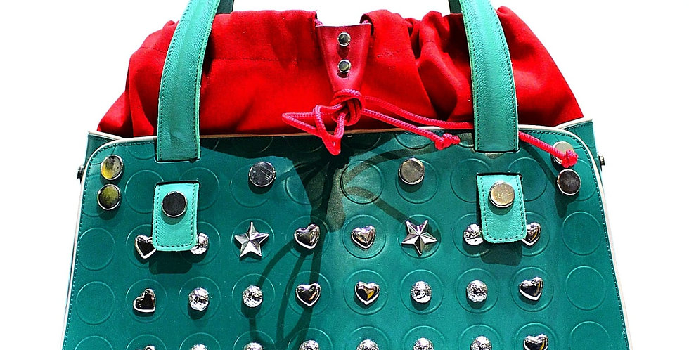 PattyBag piccola Verde con borchie