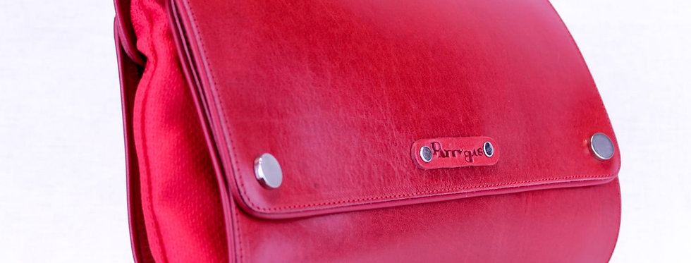 Pochette  Quadra in Pelle Rossa