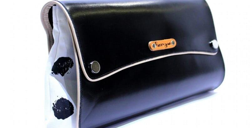 Pochette Lunga in Pelle nera