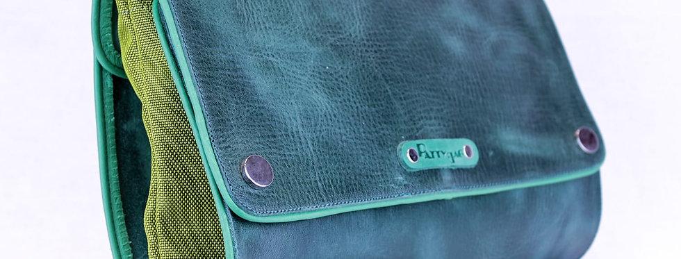 Pochette  Quadra in Pelle verde