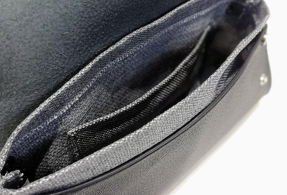 Pochette Lunga pelle nera stampata