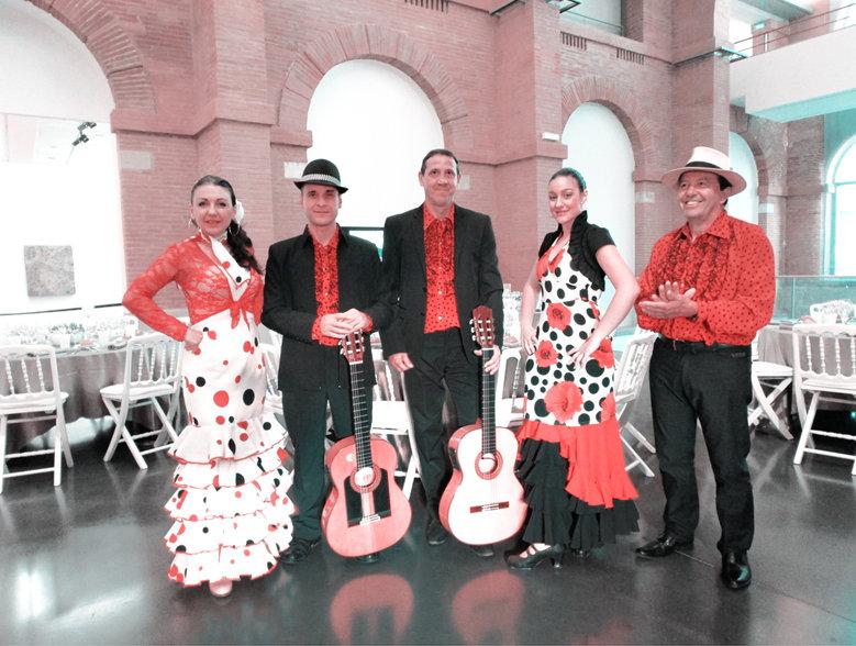 Flamenco Rumba MONACO - animation musicale - Franky Joe Texier - groupe de musiciens flamenco rumba avec danseuse Espagnole