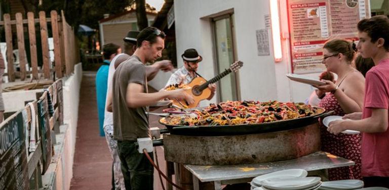 repas paella - groupe flamenco - rumba flamenca - musicien pour animation, franky joe texier - gipsy musique