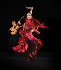 groupe avec danseuse flamenco rumba.jpg