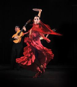 groupe avec danseuse flamenco rumba