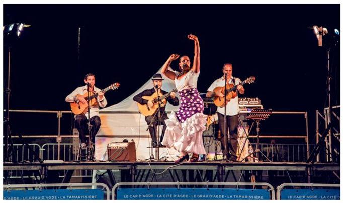 soirée sur le théme de l'espagne, danseuse flamenco, guitariste gipsy, rumba catalane