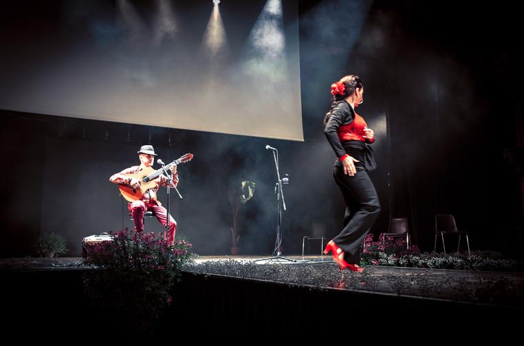 danseuse flamenco, guitariste rumba flam