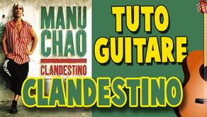 Clandestino avec accords de guitare + texte en temps réel.