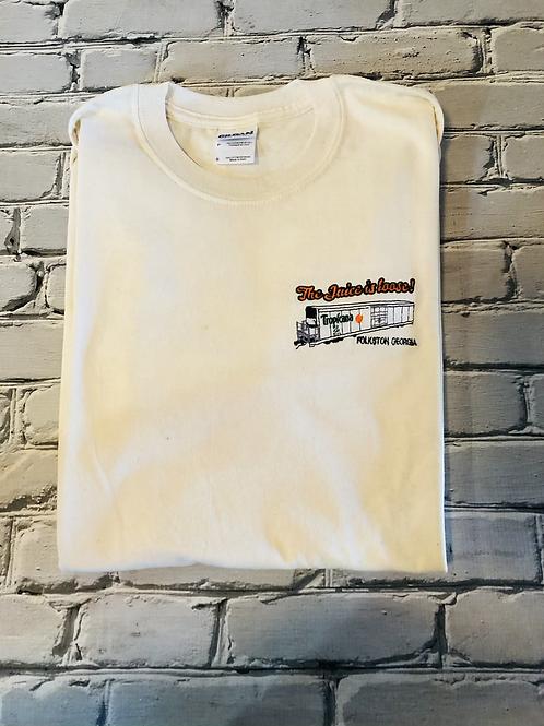 The Juice is Loose Tropicana Juice Train Shirt- adult