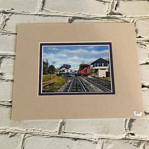 Folkston, GA matted post card size print