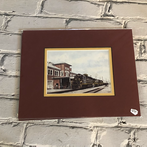 Waycross, Ga postcard size print - matted