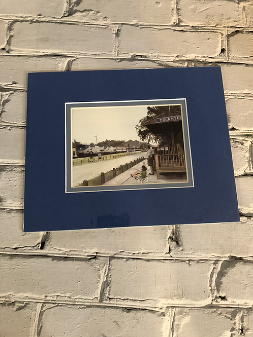 Post Card Size Matted Folkston Funnel Picture