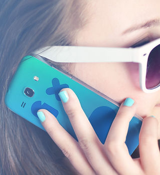 Girl Holding a Phone