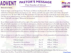 Pastor's Message - 01 Sunday of Advent_000001