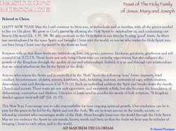 Pastor's Message - Solemnity of The Holy Family of Jesus, Mary and Joseph_000001