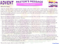Pastor's Message - 03 Sunday of Advent_000001