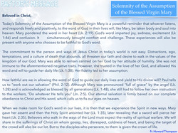 Pastor's Message - Solemnity of the Assu