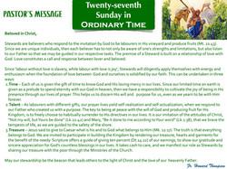 Pastor's Message - 133 Twenty-seventh Su