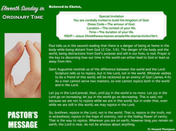 Pastor's Message - 168 Eleventh Sunday in Ordinary Time_001