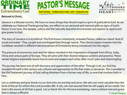 Pastor's Message - 135 National Thanksgi