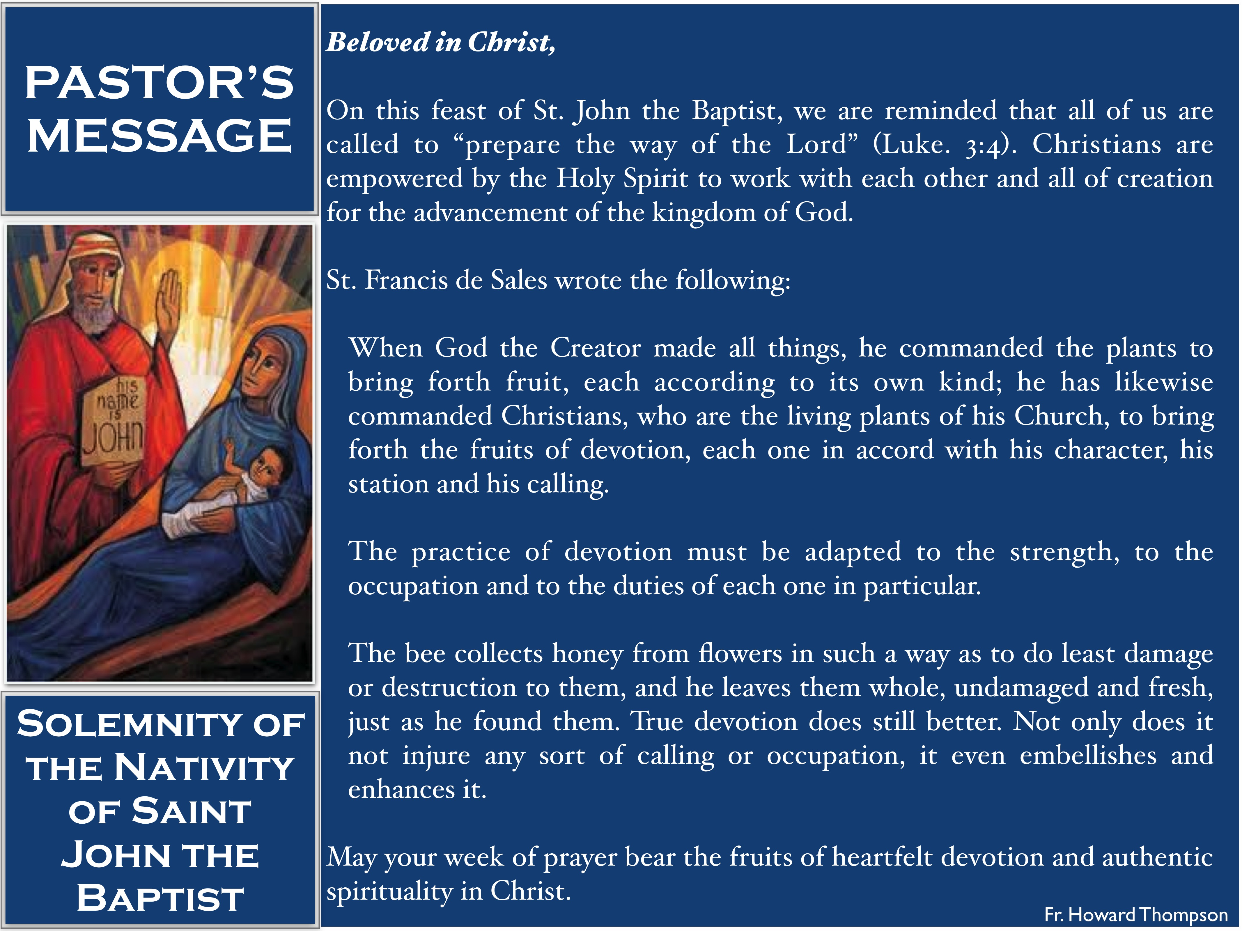 Pastor's Message - 21 Solemnity of the Nativity of Saint John the Baptist_001