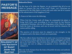 Pastor's Message - 21 Solemnity of the Nativity of Saint John the Baptist_001