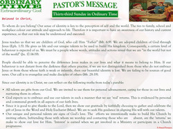 Pastor's Message - 36 Thirty-third Sunday in Ordinary Time.001