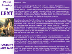 Pastor's Message - 104 Third Sunday in L