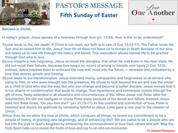 Pastor's Message - 64 Fifth Sunday of Ea