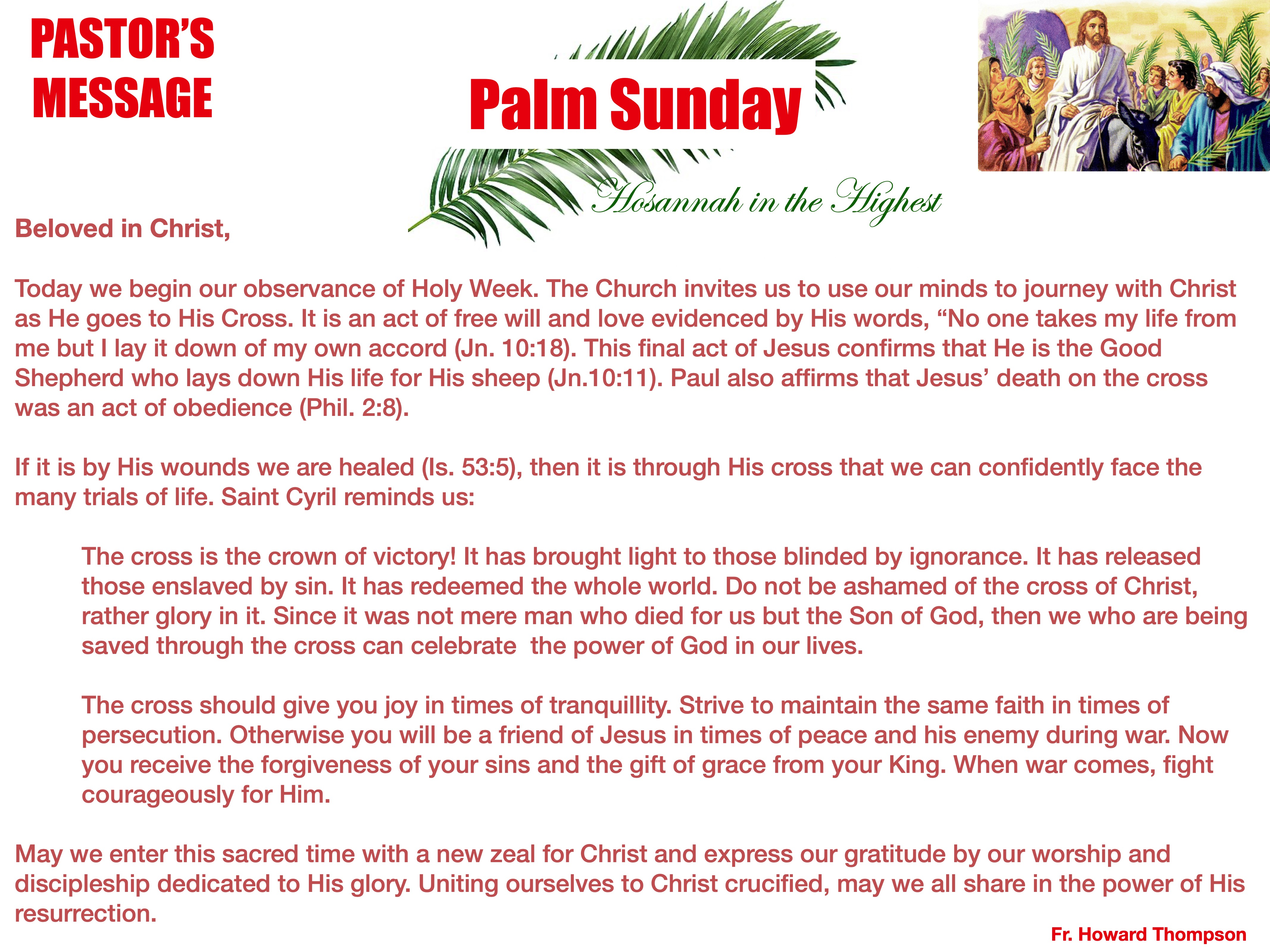 Pastor's Message - 107 Palm Sunday_001