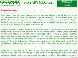 Pastor's Message - 22 Thirteenth Sunday in Ordinary Time_001