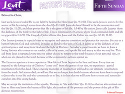 Pastor's Message - 10 Fifth Sunday of Lent_001