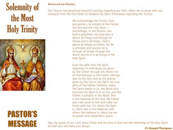 Pastor's Message - 166 The Solemnity of
