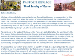 Pastor's Message - 62 Third Sunday of Ea