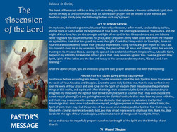 Pastor's Message - 114 The Ascension of
