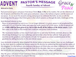 Pastor's Message - 04 Sunday of Advent