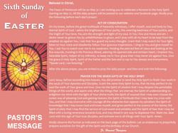 Pastor's Message - 113 Sixth Sunday of E