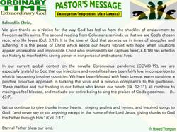 Pastor's Message - 124 Emancipation_Inde