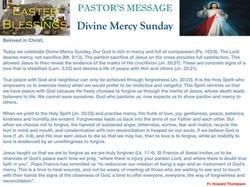 Pastor's Message - 61 Divine Mercy Sunda