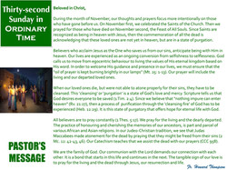 Pastor's Message - 138 Thirty-secondSund