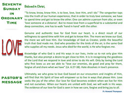 Pastor's Message - 53 Seventh Sunday in