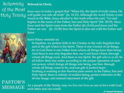 Pastor's Message - 68 The Solemnity of t