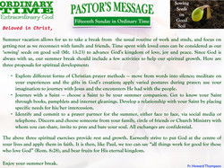 Pastor's Message - 19 Fifteenth Sunday in Ordinary Time