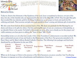 Pastor's Message - Solemnity of The Epiphany of the Lord