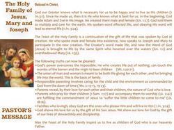 Pastor's Message - 93 The Holy Family_00