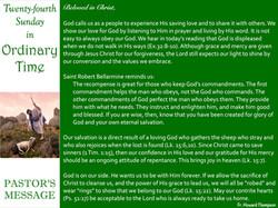 Pastor's Message - 81 Twenty-fourth Sund