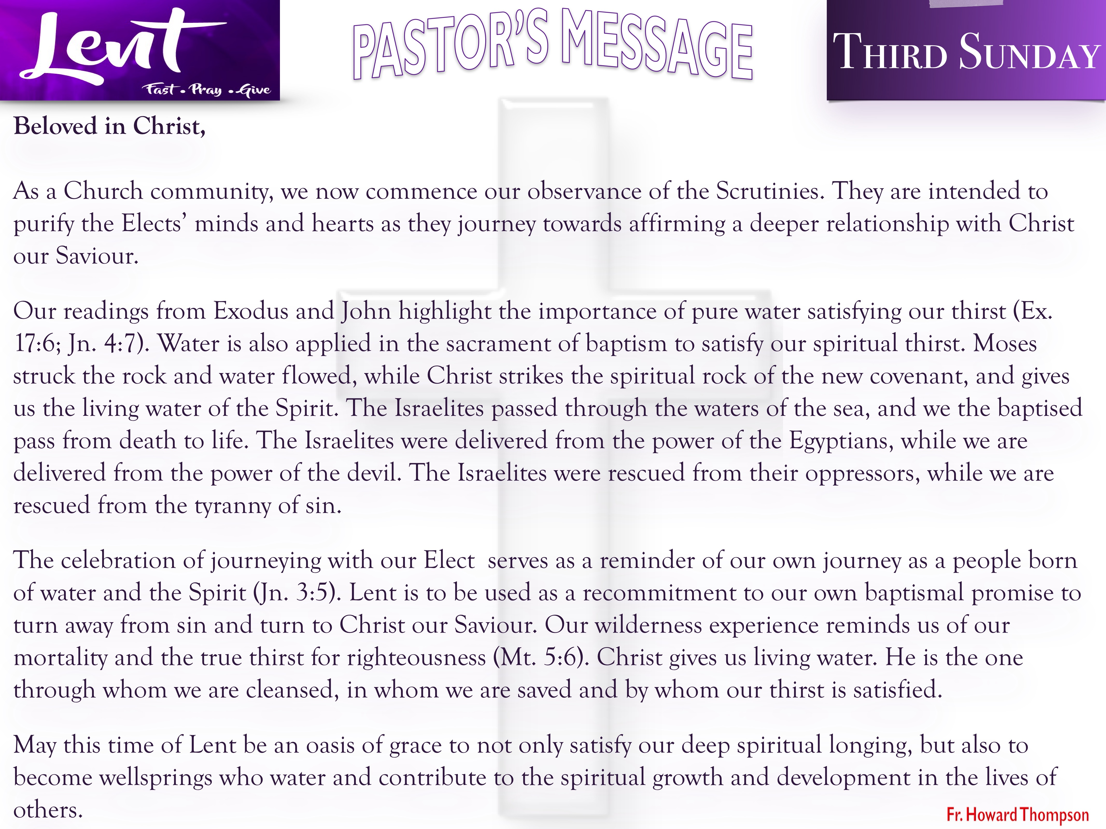 Pastor's Message - 08 Third Sunday of Lent_001